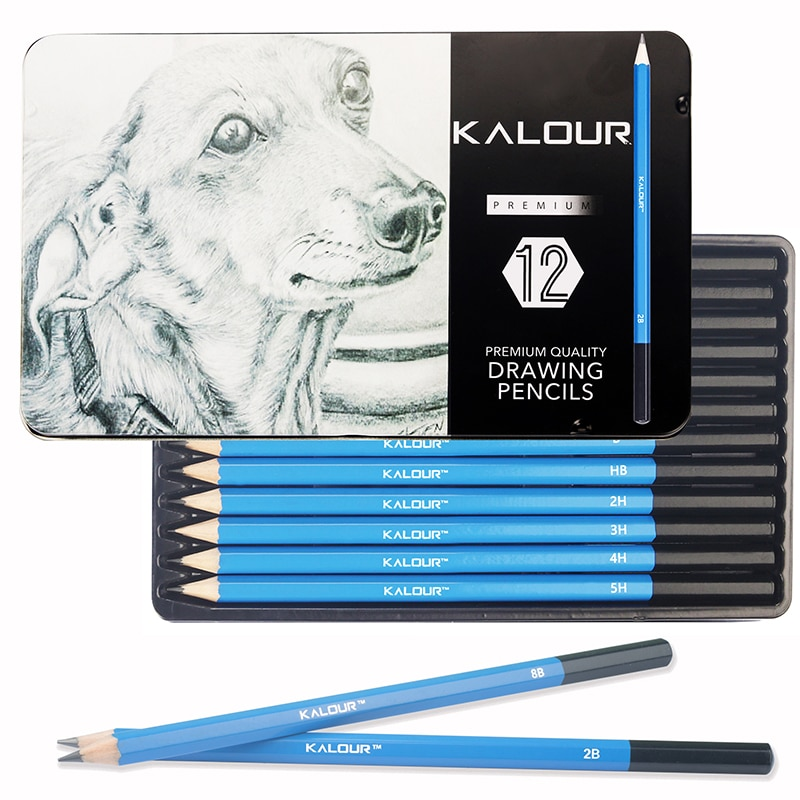 12Pcs Professional Wood Drawing Sketch Pencil Soft Pastel Colored Pencils Charcoal Pen For Student Drawing Sketch Art Supplies