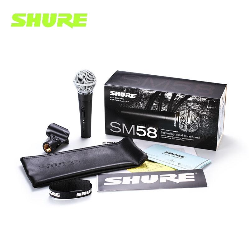 مايكروفونو شور SM58/SM58S السلكية المهنية الصوتية القلب الديناميكي ميكروفون