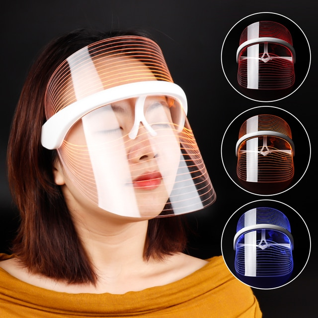 3 Colors LED Light Therapy Face Mask Photon Instrument Anti-aging Anti Acne Wrinkle Removal Skin Tighten Beatuy SPA Treatment