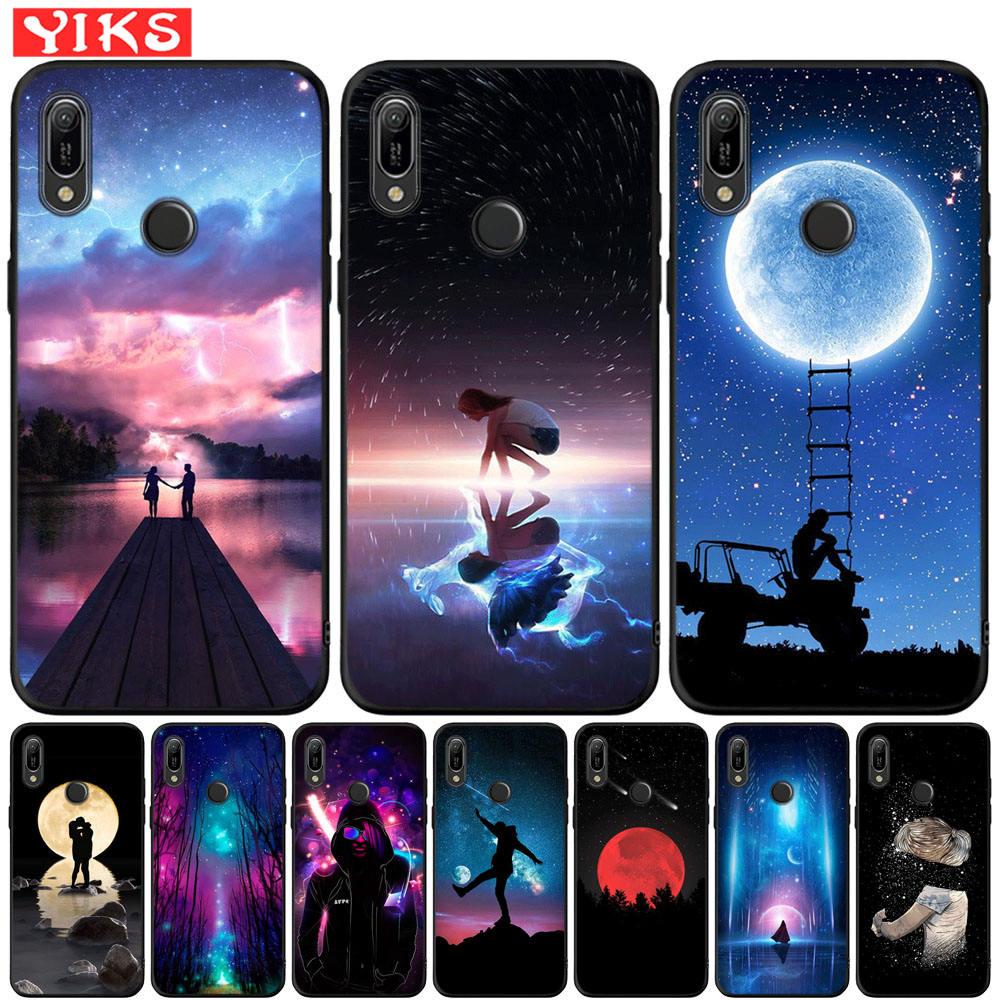 Abdeckung Für Huawei Y6 2019 Y6S Lovebay Starry Nigh Sterne Mond Paar Fall Für Honor 20 Lite Pro 20i 20S MAR-LX1M 8A PRo JAT-L41