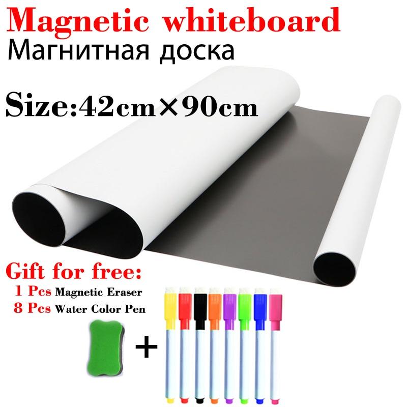 Стираемые белые доски 420*900 мм, магнитная доска для стенка холодильника, стикеры для доска для рисования для детей, доски объявлений для дома,...