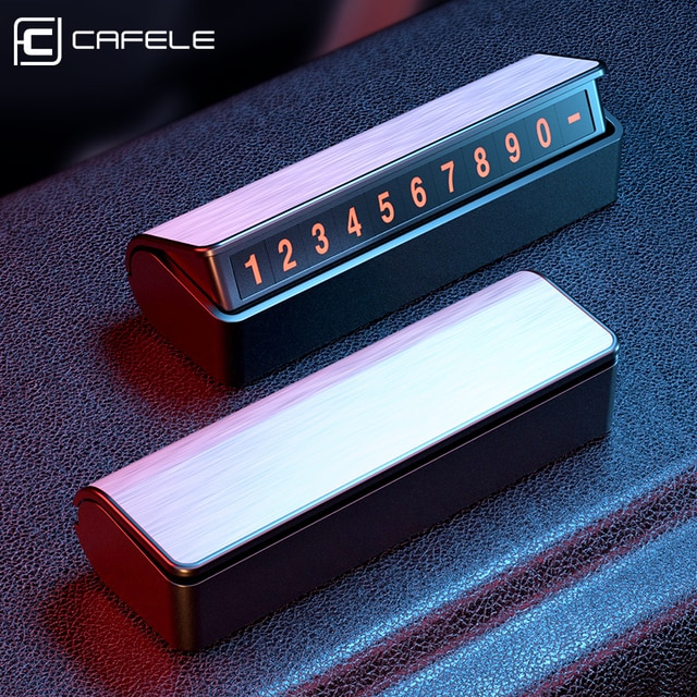 CAFELE Car Temporary Parking Card Holder Magnetic Hide Phone Number Card Plate Parking Card Automotive Interior Accessories