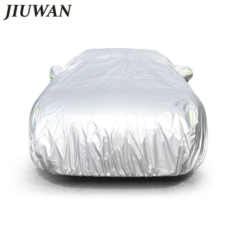 JIUWAN Universal SUV Car Covers Sun Dust UV Protection Outdoor Auto Full covers Umbrella Silver Refl