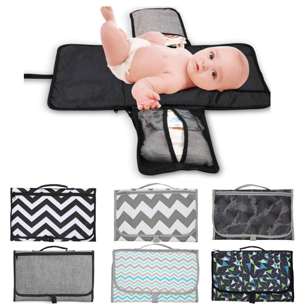 3 In 1 Waterproof Baby Diaper Changing Pad Foldable Infant Urine Mat Sheet Baby Nappy Bag Diaper Cover Mattress Reusable Pad