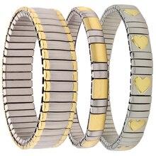 Hapiship Trend Frauen/Männer der 14 Stil Uhr band Stil Elastische Edelstahl Armband Gold Blume Herz Armband W001