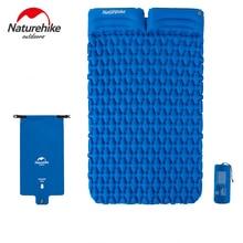 Naturehike 2 Person Camping Sleeping Pad Mattress Lengthened Inflatable Mat Portable With Air Bag Camping Mat Ultralight
