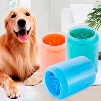dog paw cleaner hand held soft silicone combed cup open air pet towel toothbrush scrubber toothbrush cleaner quickly bucket of