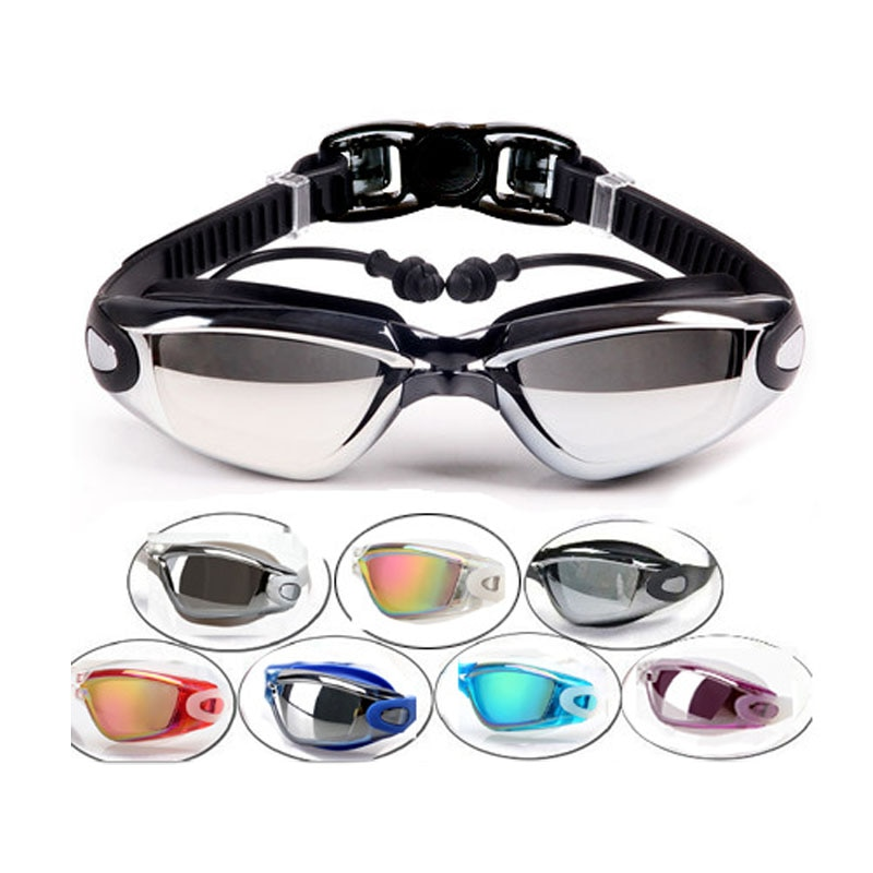 Gafas de natación para adultos, hombres y mujeres, tapones para los oídos para la piscina, gafas impermeables para nadar, gafas de buceo para adultos recetadas