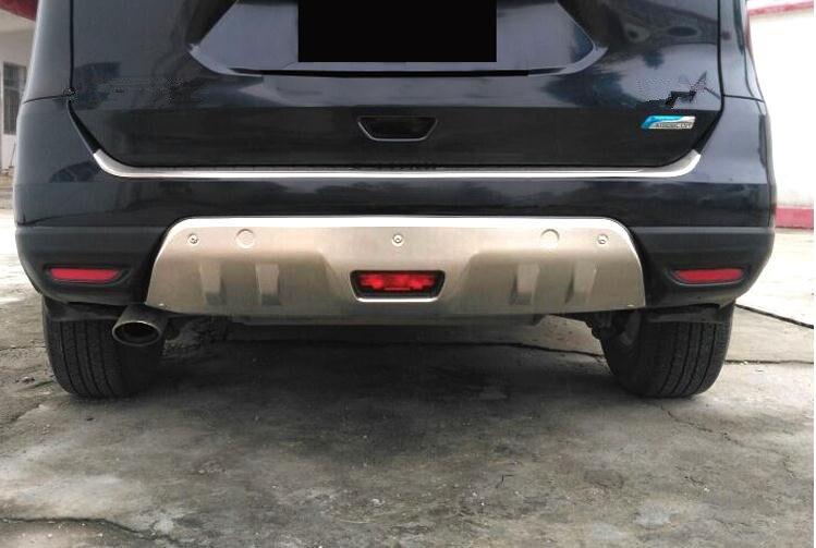 تصفيف السيارة لنيسان روج X-Trail 2014- 2016 T32 معدن الجبهة + المصد الخلفي أسفل الحرس حامي مع مقبض باب جانبي بفتحة رئيسية الملحقات