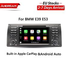 7-дюймовый Bulit-in Apple Carplay Android-автомобильный dvd плеер навигация для BMW E39 E53 X5 M5 Series 5