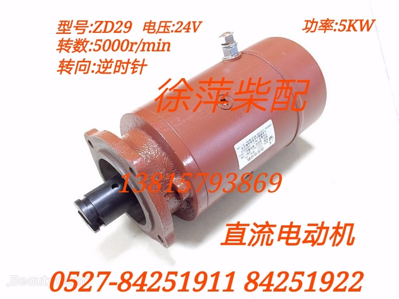Motor de bomba de presuministro eléctrico diésel ZD29 24V CC 5000W 307A. 54,04