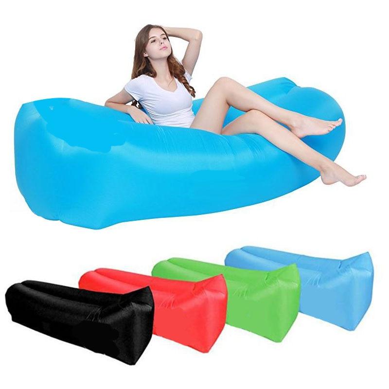 Light Sleeping Bag Waterproof Inflatable Bag Lazy Sofa Camping Sleeping Bags Air Bed Adult Beach Lou