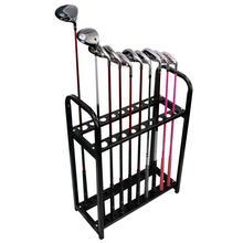KOFULL Golf Club Display Rack Metal Shelf Organizer Stand 18 Slot Holder Supplies