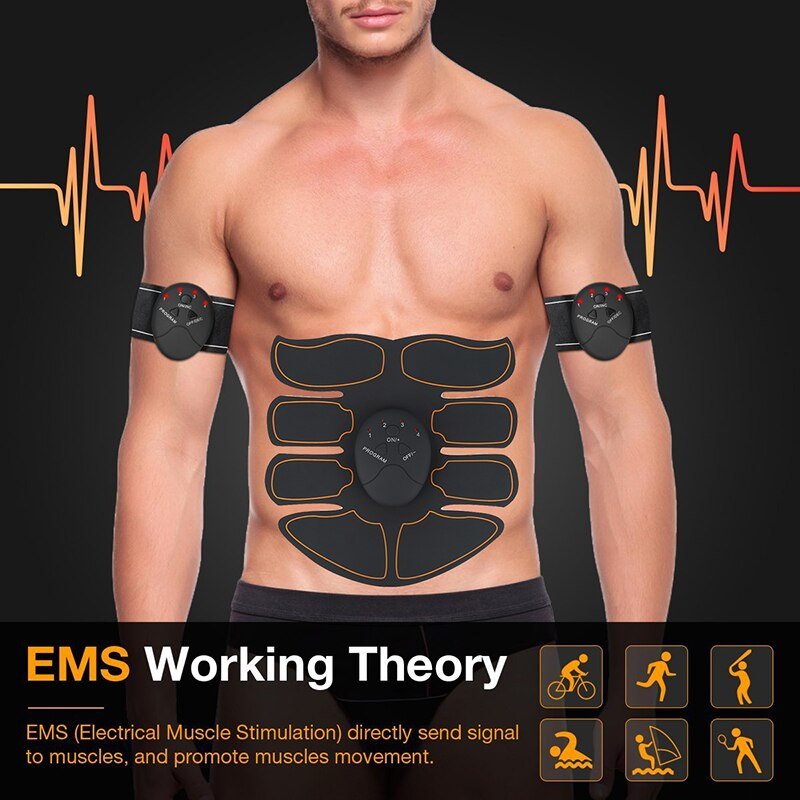 Magic Ems Spier Training Gear Ems Spier Electro Stimulator Buikspier Abs Trainer Met Fitness Training Gear Ab Riem