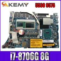 akemy brand new i7 8706g 8g for dell precision 5530 9575 laptop motherboard daz10 la f211p cn 0xt69y xt69y mainboard 100tested