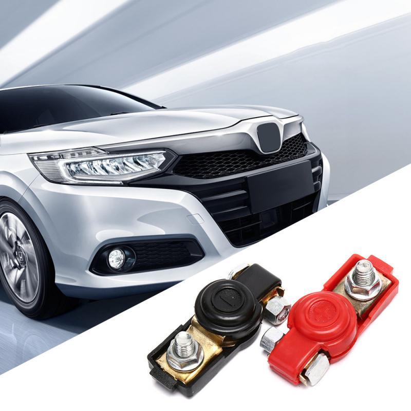 2 uds coche Barco de la batería conector de Terminal superior Positivo Negativo pesado del vehículo del coche Cable conector rápido Clip Universal