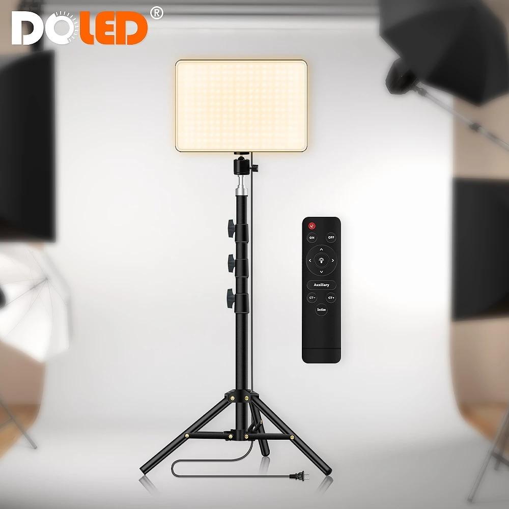 لوحة إضاءة LED الفيديو الضوئي التحكم عن بعد مع موقف للتصوير الفوتوغرافي استوديو التقاط صور فيديو تصوير البث المباشر