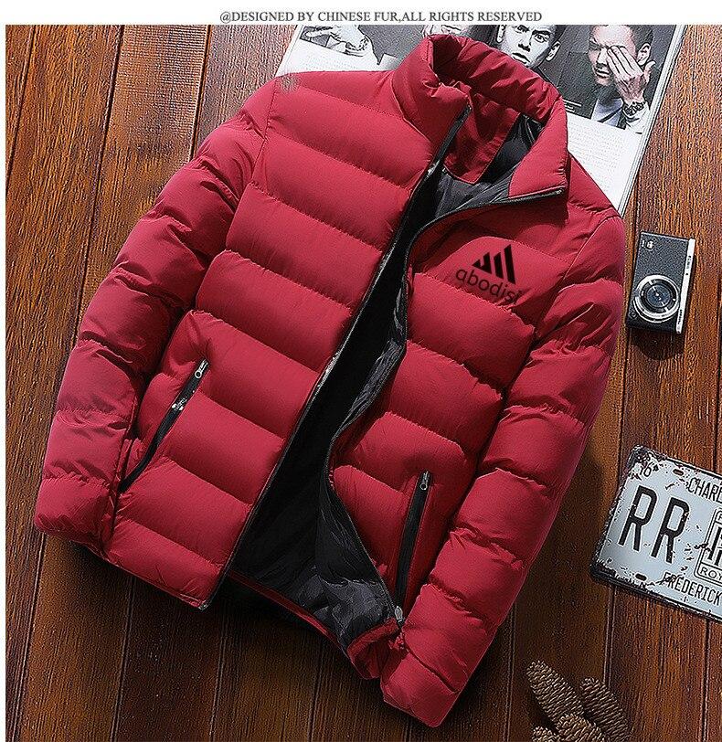Зимняя мужская куртка 2021, модная мужская куртка с воротником-стойкой, парка, мужские однотонные толстые куртки, пальто, мужские зимние парки...