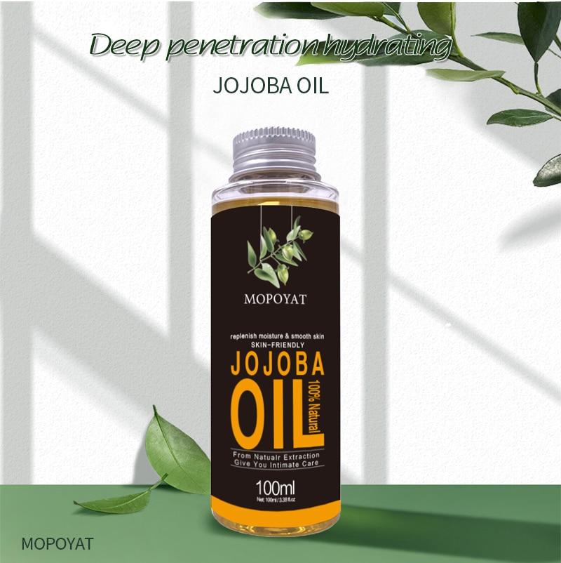 MOPOYAT100% Natural Organic Jojoba Oil Massage Best Skin Care Relaxing Moisturizing Oil Control Hydration hair care Massage Oils