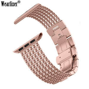 Metal Strap for Apple Watch Band 38mm 40mm 42mm 44mm Mesh Loop Stainless Steel Replacement Women Strap for iWatch 5 4 3  2 1