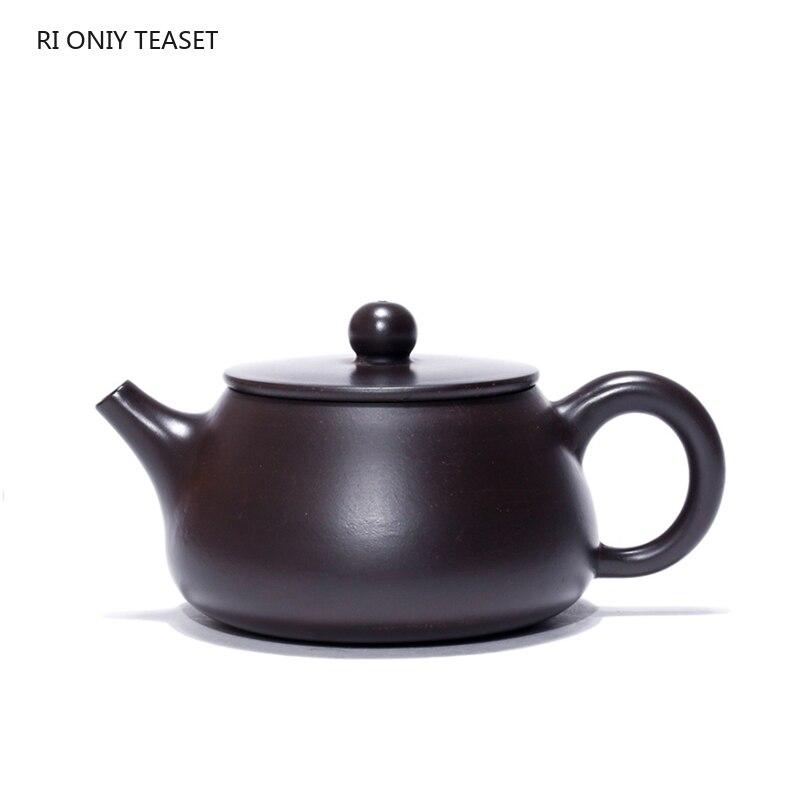 160 مللي Yixing بوتيك الأرجواني الطين إبريق الشاي حجر سكوب براد شاي غلاية الجمال اليدوية طقم شاي الطين الأسود مخصص هدية أصيلة