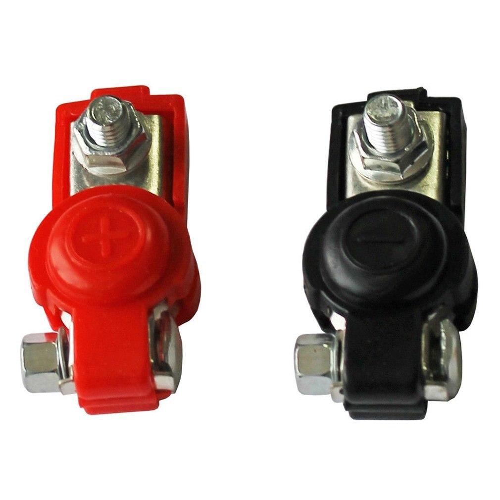 2x baterías de liberación rápida Cclamps 6-12V terminales de poste de la batería del coche terminales de Color negro y rojo