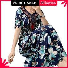 MOVOKAKA Fashion High Waist Tassel Dress Women 2021 Vintage Prom Plus Size Long Dresses Summer Beach