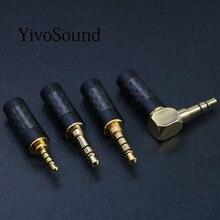 Plaqué or 2.5mm / 3.5mm / 4.4mm 3 4 pôles stéréo Jack HiFi équilibré écouteur bricolage Audio câble aux cuivre prise soudure connecteur