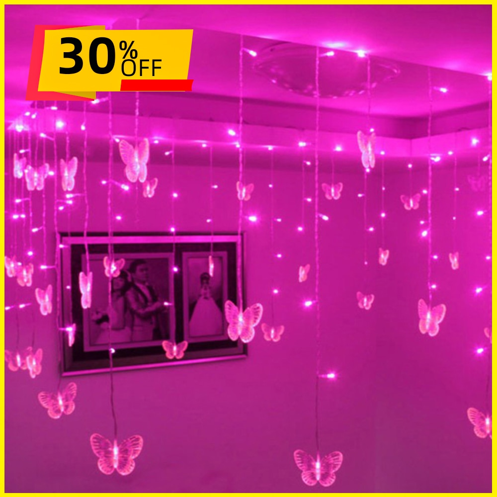 3.6M Christmas Butterfly Decor LED Lights For Home Hanging Garland Christmas Decorations Ornament Navidad Xmas Gift New Year недорого