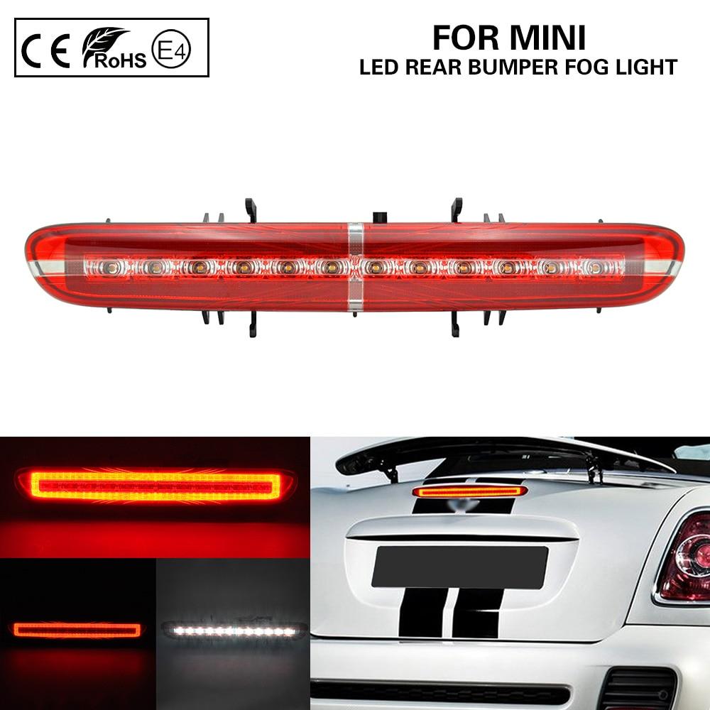Luz antiniebla de parachoques trasero LED multifunción/luz de marcha + luz LED de respaldo/marcha atrás + luz de freno LED para Mini R56 R57 R58 R59