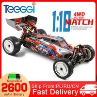 WLtoys 104001 RC Car 1:10 45 Km/h 4WD Drive Off-Road 2.4G High Speed Radio Control Car Formula 1:10 Dirt Bike VS Wltoys144001
