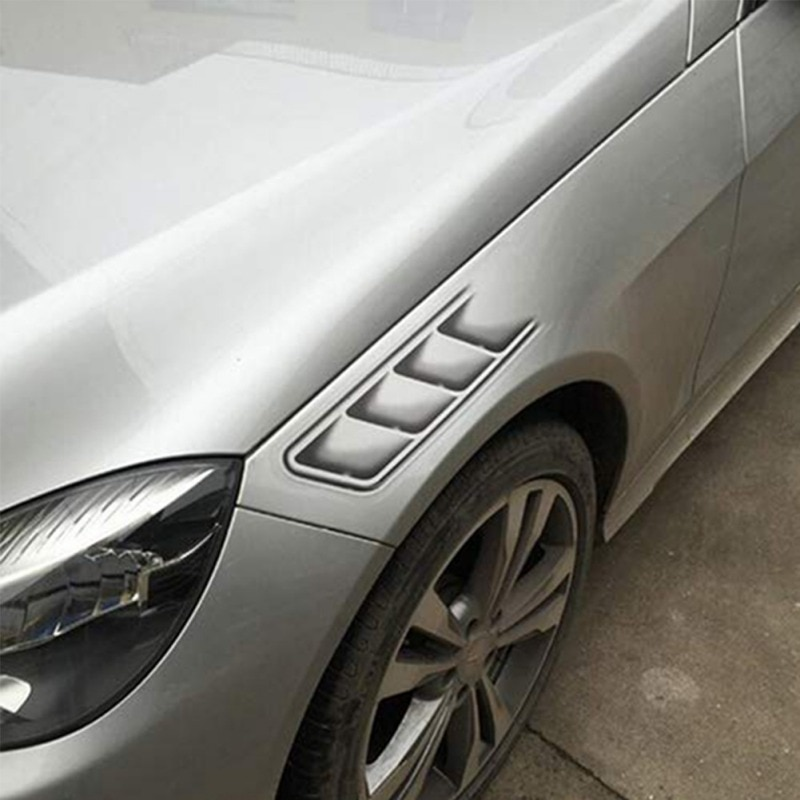 Car Styling 3D Falso Aberturas Decorativo Saída Lateral Vents Adesivos Engraçado Decalques Emblema Símbolo Criativo Adesivos