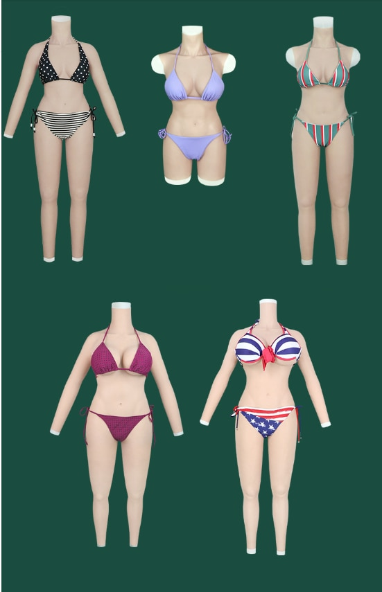 ثدي سيليكون مزيف للمتحولين جنسيا ، طقم كامل الجسم بأذرع C D G H ، جسم كروسدرسر للرجال