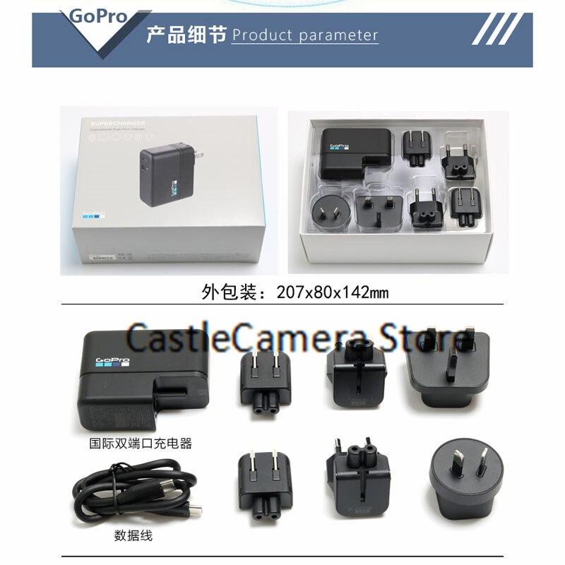 GoPro USB الجدار شاحن مزدوج USB محولات الطاقة مع كابل السفر تهمة الأجهزة يناسب جميع كاميرات GoPro شاحن الأصلي
