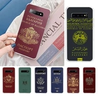 passport style phone case for samsung galaxy s10 s10e s8 s9 plus s7 edge note10 9 8 soft transparent tpu cove