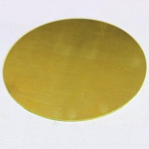 customized 0.5mm 1mm 1.5mm 2mm 3mm Thickness X 100mm 50mm Diameter round brass sheet  brass round plate CNC service