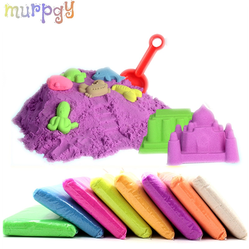 100g/Set Sand Glue for Slime Clay Novelty Beach Toys Sand Model Clay Dynamic Moving Magic Sand Toys for Children Christmas gift starry sky sand beach toy 18 piece sand set magic space clay sand puzzle power toys