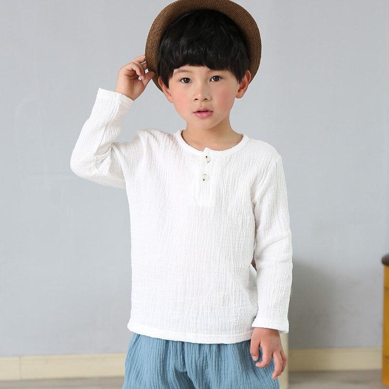 Camiseta larga de manga larga para niños y niñas de ropa de...