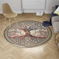 viking tattoo carpet square anti skid area floor mat 3d rug non slip mat dining room living room soft bedroom carpet 03