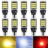 10x w16w t15 led 921 912 canbus error free reverse car lights led bulb backup exterior lights auto signal lamp 12v white orange