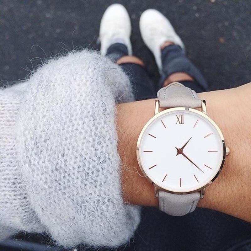 2019 New Fashion Simple Women Watches Casual Ladies Leather Quartz Watch Woman Clocks Vrouwen Zegarek Damski watch-watch