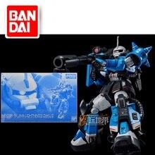 Japaness bandai original gundam modelo rg 1/144 MS-06R-1A uma lightning's zaku ii modelo robô unchained terno móvel crianças brinquedos