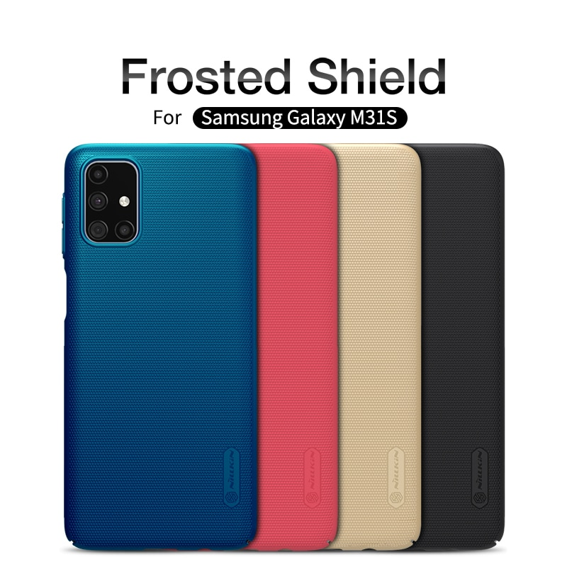 For Samsung Galaxy M31s case NILLKIN Super Frosted Shield PC Hard Back Cover case Funda Samsung  M31s Bag cover