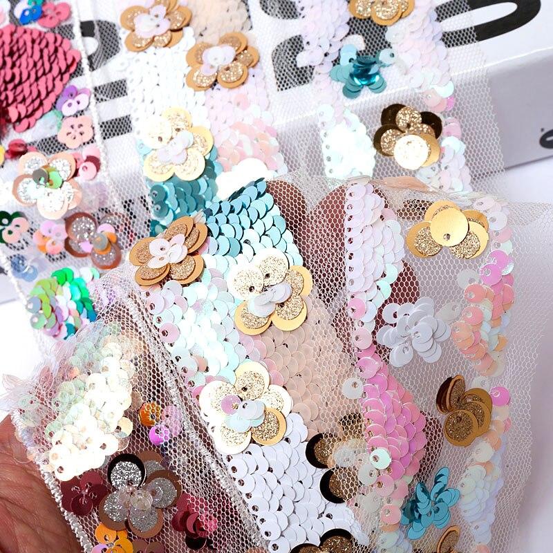 1 jarda 35mm lantejoulas rendas bordado fita roupas acessório crianças vestido chapéu flor diy artesanal decoração