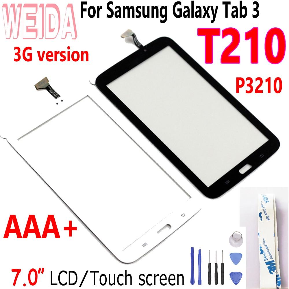 "Pantalla táctil LCD de 7 ""WEIDA para Samsung GALAXY Tab 3, 7,0, SM-T210, 3G, pantalla táctil por separado, t210, BP07WS-500 LCD"