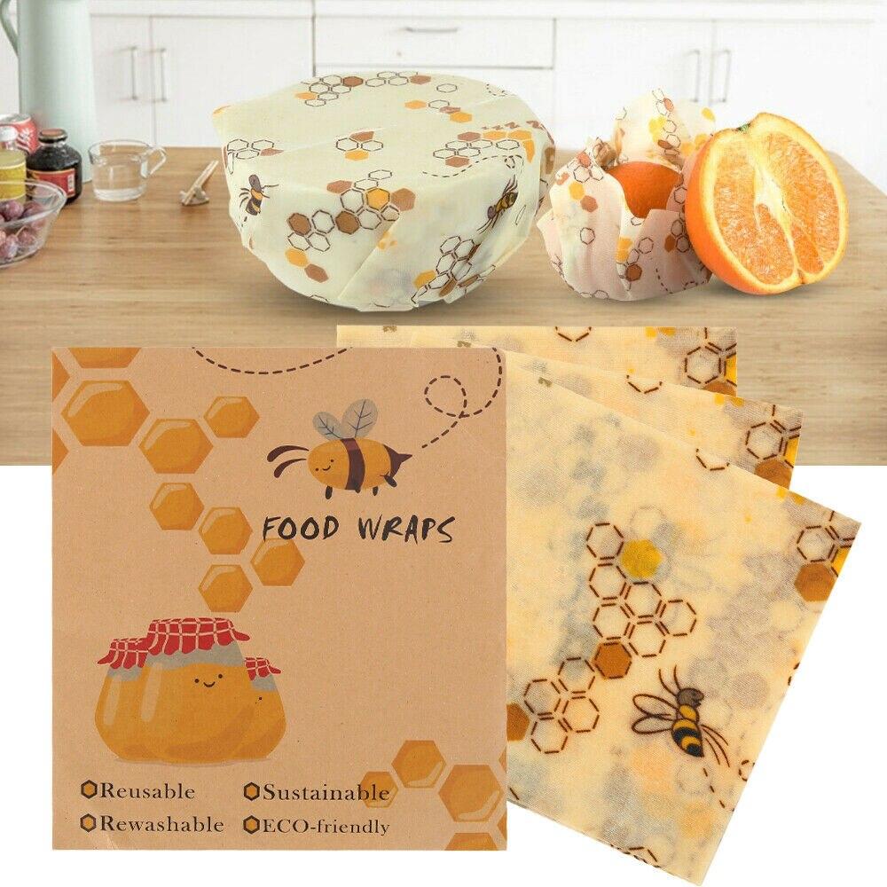 Papel para mantener fresco, paño para mantener fresco, papel para empaquetado de comida, paño de cera de abeja de plástico reutilizable, bolsa para almacenar fruta, envolturas de comida