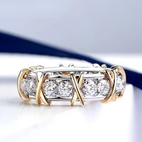 luxury ins diamond ring women cross x shaped simple personality index finger ring luxury jewelry engagement rings for women