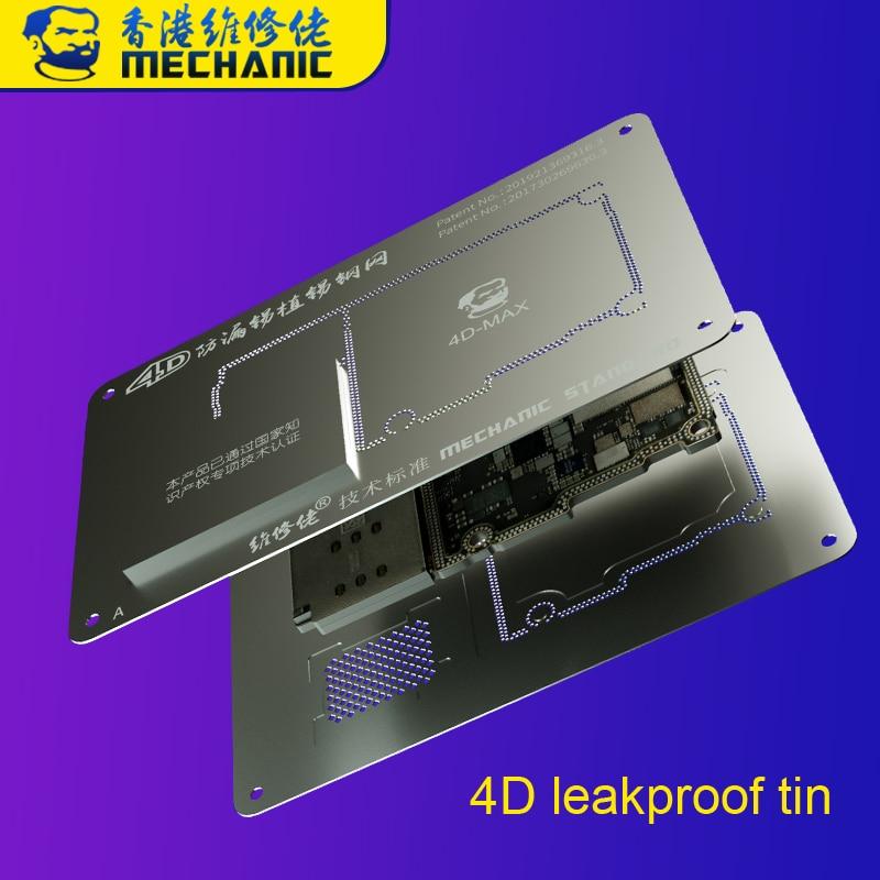 Plantilla de Reballing mecánico 4D BGA para teléfono 11 11Pro Max X XS XSMAX placa base estaño a prueba de fugas capa media de plantación de estaño