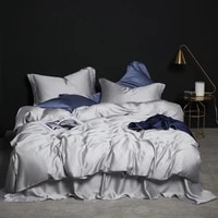 papamima solid color tencel silk bedding set luxury queen king size summer duvet cover bed sheet set breathable ultra soft