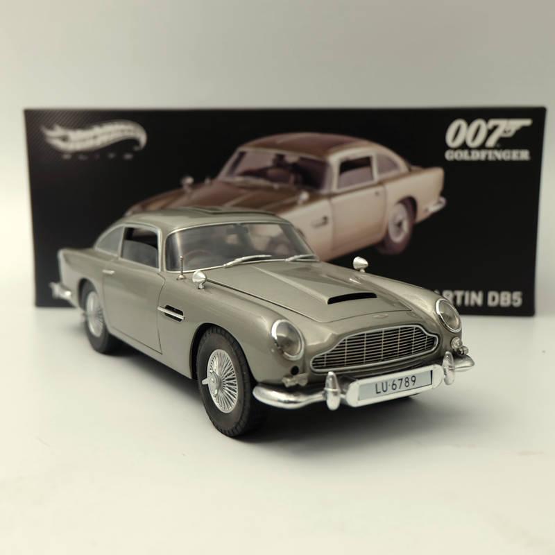 HotWheels-نموذج سيارة لعبة بمقياس 1:18 ، Aston-artins ، DB5 ، goldوالإصبع ، 007 ، سندات ، BLY20 ، هدية مع الصندوق الأصلي